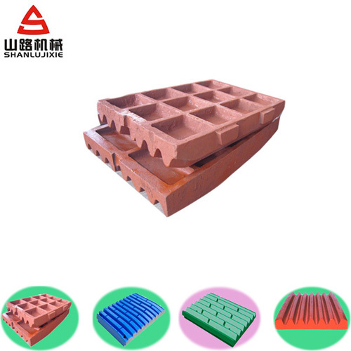 High Manganese Fixe Jaw Plate For Shanbao Sbm Crusher