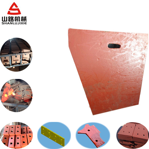 High Manganese Steel Casting Wear Liner Plate For Jaw Crusher And Impact
