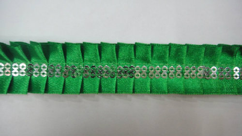 High Quality Beaded Paillette Ribbon Lace