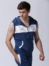 High Quality Customized Fashion Design Men Sleeveless Hoody