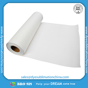 High Quality Fast Dry 58gsm Sublimation Transfer Paper From China