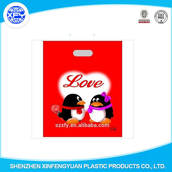 High Quality Love Plastic Bag For Gift Packing
