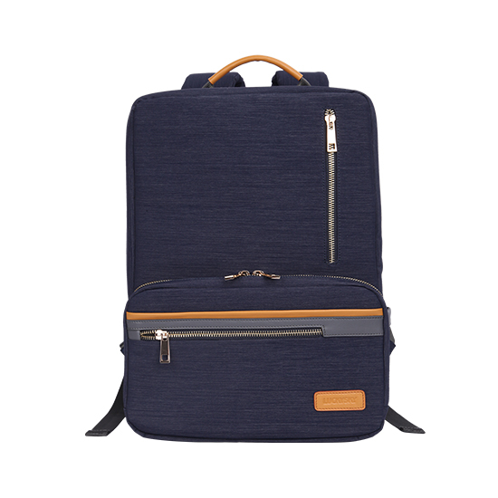 High Quality Nylon Backpack With Genuine Leather Trim