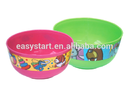 High Quality Plastic Bowl Large Cereal Colorful Jumbo