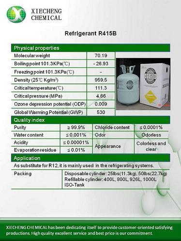 High Quality R415b Refrigerant