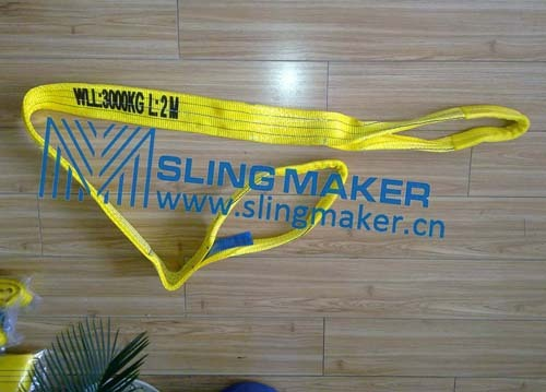 High Quality Wll3ton 3000kg Polyester Webbing Sling Flat Web Band