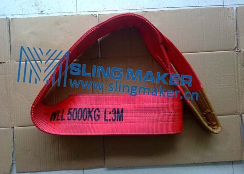 High Quality Wll5ton 5000kg Polyester Webbing Sling Flat Web Band