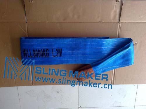 High Quality Wll8ton 8000kg Polyester Webbing Sling Flat Web Band