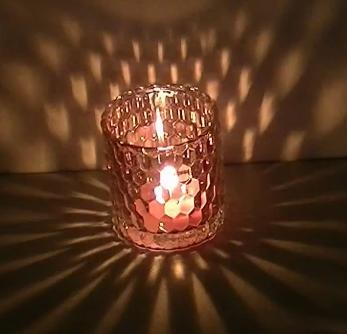 High Transmittance Glass Candle Holder