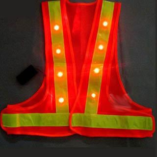 High Visibility Reflective Flashing Led Safety Vest