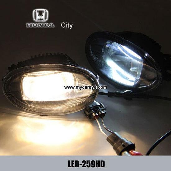 Honda City Body Parts Car Front Fog Led Lights Drl Daytime Driving Light