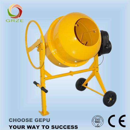 Horizontal Type Mini Concrete Mixer With Wheel Operation