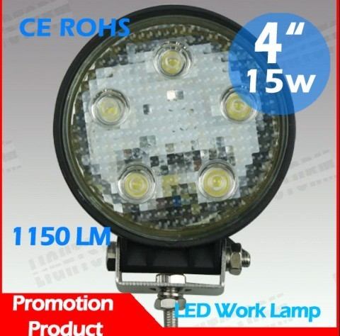 Hot 15w Led Work Light Offroad Driving 12v Bar Auto Tuning Mitsubishi Pajer
