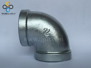 Hot Dip Galvanized Malleable Iron 90 Degree Elbow