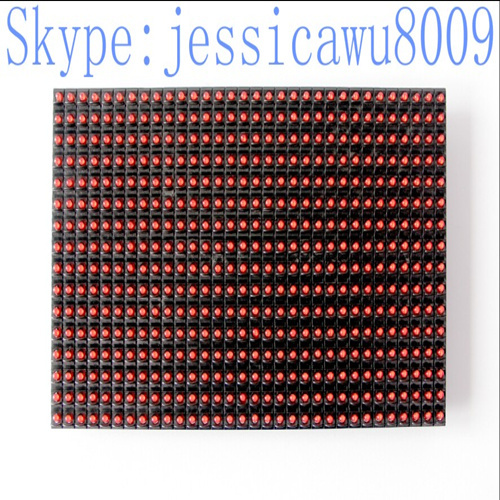 Hot Sale Semi Outdoor P10 Single Red Led Display Module