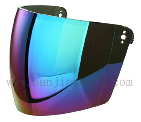 Hot Selling Half Face Shield With Rainbow Coating