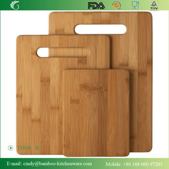 Hot Selling Totally Bamboo Material Cutting Board Set With 3 Pcs