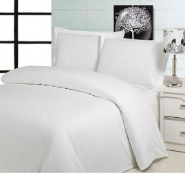 Hotel Bleached White Bed Sheet