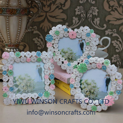 Houseware Floral Photo Frame Metal Picture