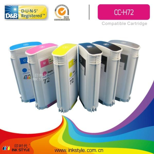 Hp72 Compatible Cartridge For Hp T610 T620 T770 T1100 T1100ps T1120 T1200