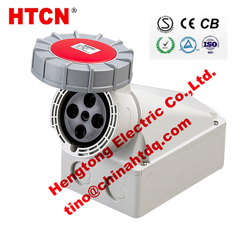 Htn Series Electrical Wall Sockets Industrial Surface Mounted 63a 3p E Ip67
