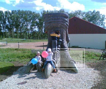 Huge Fiberglass Dinosaur Paw Statue