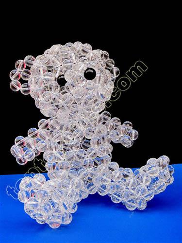 Imitation Crystal Beaded Teddy Bear Acrylic Figurine