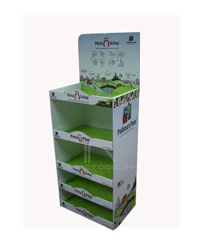 Impact Display Cardboard Floor Shelf Disply Stand