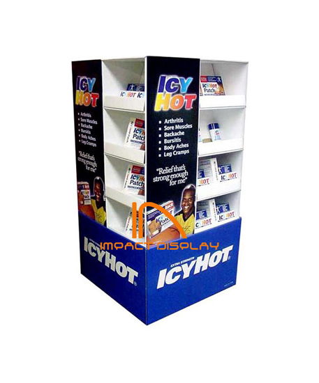 Impact Display Cardboard Pallet Shelf Disply Stand
