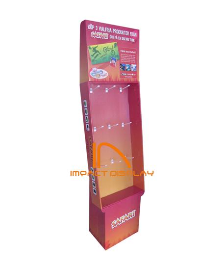 Impact Display Pop Cardboard Hooks Rack
