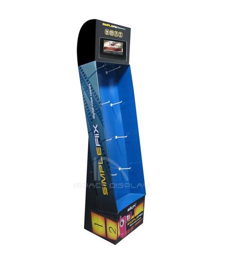 Impact Display Store Corrugated Hooks Stand