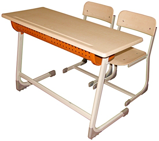 Inci Double School Desk Werzalit Chair