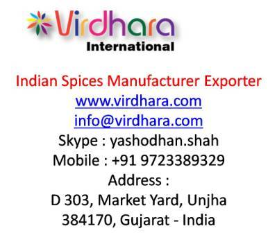 Indian Spices From Unjha Gujarat India