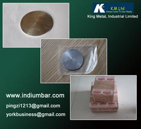 Indium Target Round Square