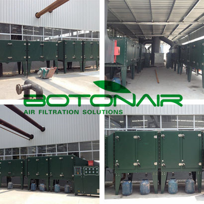 Industrial Air Filtratio System For Textile Stenter