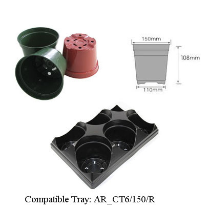 Injection Molding Pot 6 Inch