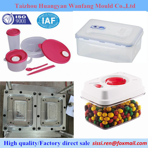 Injection Mould For Plastic Container Lunch Box Mold Thin Wall Molding
