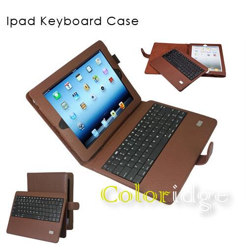 Ipad Bluetooth Keyboard Case Brown