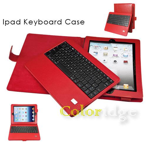 Ipad Bluetooth Keyboard Case Red