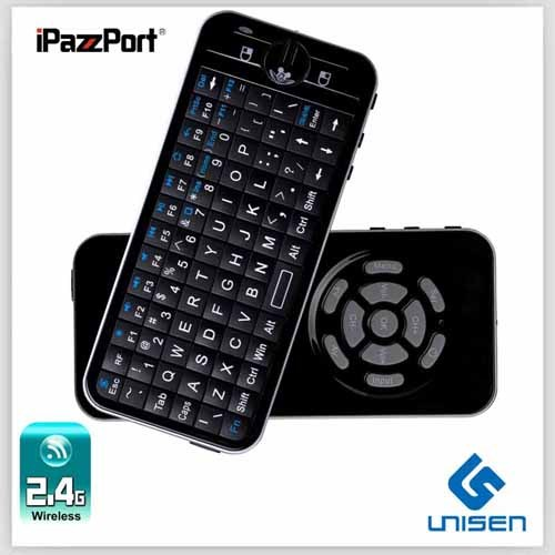 Ipazzport Fly Air Mouse Mini Wireless Keyboard With 2 Mode Learning Ir Remo