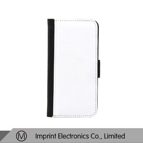 Iphone 6 Flip Cover Black Burnished Plastic Leather
