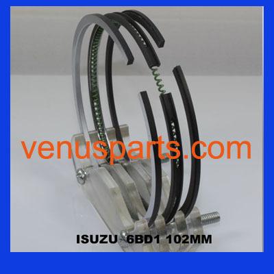 Isuzu Diesel Engine 4bd1t 4bd1 Piston Ring 5 12121 005 0 12181 003 1