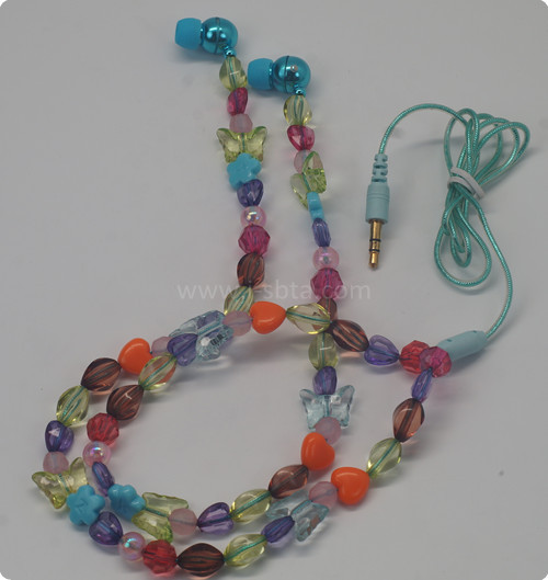Jep 523 Pearl Earphone Necklace Jewelry