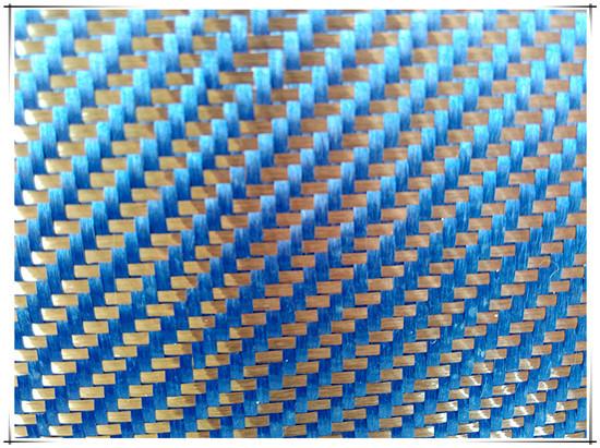 Kevlar Carbon Hybrid Fabric Blue