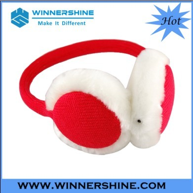 Knitted Earmuff Headphone In Clear And Stereo Sound