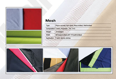 Knitted Fabrics Garments Mesh