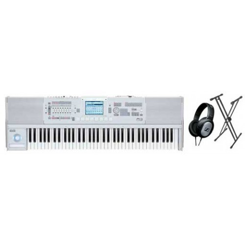 Korg M3 73 Key Synthesizer Workstation Sampler Package With Free Headphones