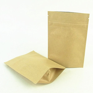 Kraft Paper Stand Up Pouch With Ziplock