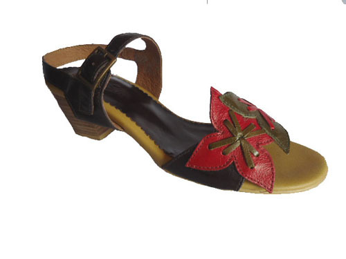 Lady Leather Casual Sandals E308