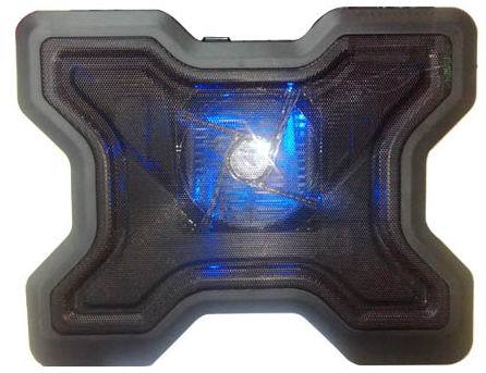 Laptop Cooling Pad With A Blue Led Fan And Quickly